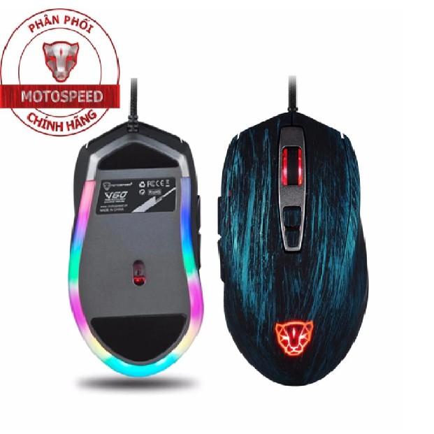 Chuột Game Thủ Motospeed V60 RGB Gaming Mouse Có LED Thay Đổi Theo DPI