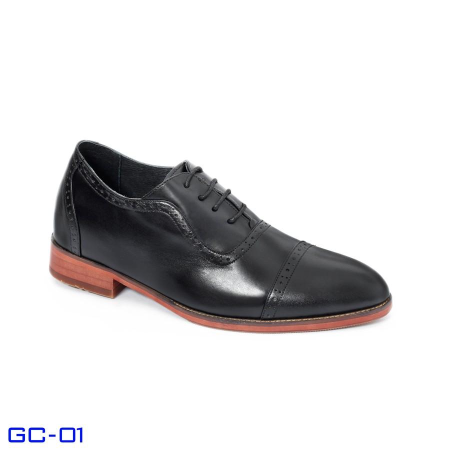 Giày công sở nam tăng chiều cao GC-01S (ĐEN)