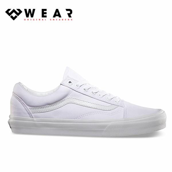 Giày Sneaker Unisex Vans Old Skool All White - VN000D3HW00