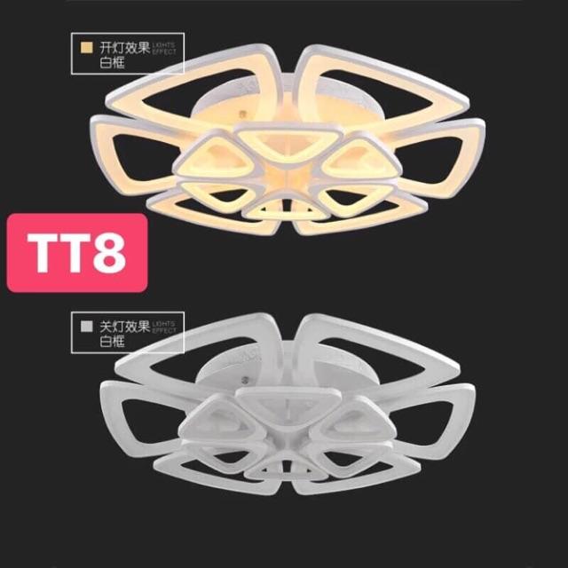 Đèn Ốp Trần Hiện Đại 12 Cánh -3 Chế Độ -Kèm Điều Khiển
