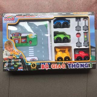 Bộ đồ chơi giao thông cho bé (quà bỉm Goon)