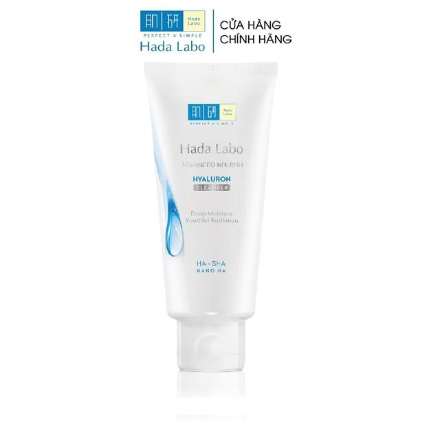 [Mã COSMALL25 -10% ĐH 250K]Kem rửa mặt dưỡng ẩm tối ưu Hada Labo Advanced Nourish Cleanser 80g