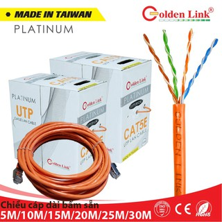 GOLDEN LINK 5E UTP - Dây mạng (cáp lan) bấm sẵn 2 đầu RJ45 dài 5m 10m 15m 20m 20m 30m thumbnail