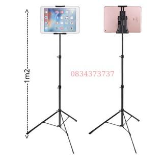 cây livestream, quay tiktok cho ipad máy tính bảng điện thoại chân tripod cao từ 50cm đến 1m2m+ tặng remote bluetooth thumbnail