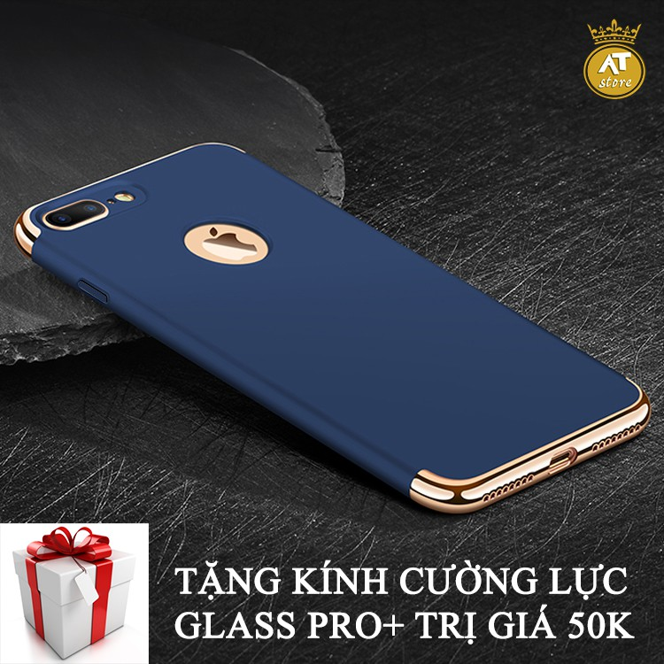 Ốp lưng iphone 7plus/8plus cao cấp + Tặng kính cường lực Glass Pro+