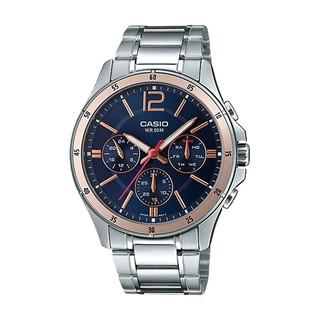 [Mã FARSBR153 giảm 15% đơn 150K] Đồng hồ nam dây kim loại Casio MTP-1374D-2A2VDF chính hãng