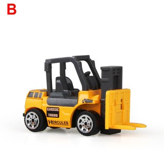Alloy Die-cast Engineering Car Set Construction Truck Models Kids Forklift Toys