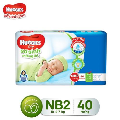 [Tặng thêm 8 miếng] Miếng lót sơ sinh Huggies Newborn 2 (4-7kg) -N40 (Gói 40 miếng) – 8888336016603