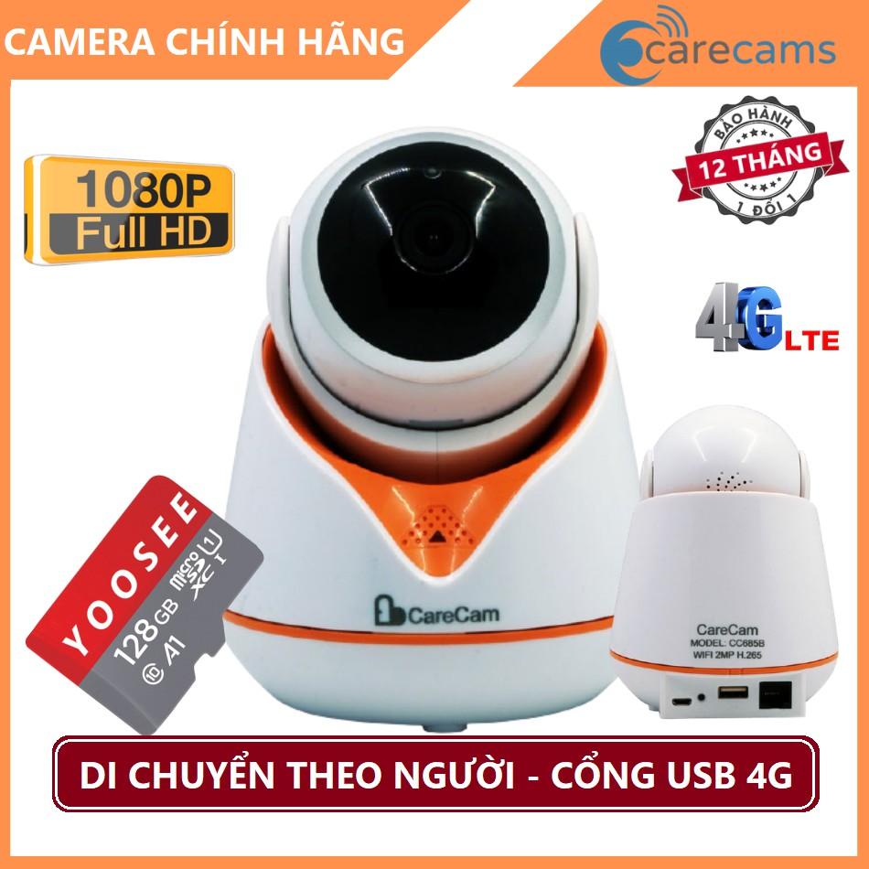 Camera ip wifi Carecam Xoay 360° FULLHD 1080 Chuẩn - Thẻ nhớ Chính Hãng - Camera Carecam