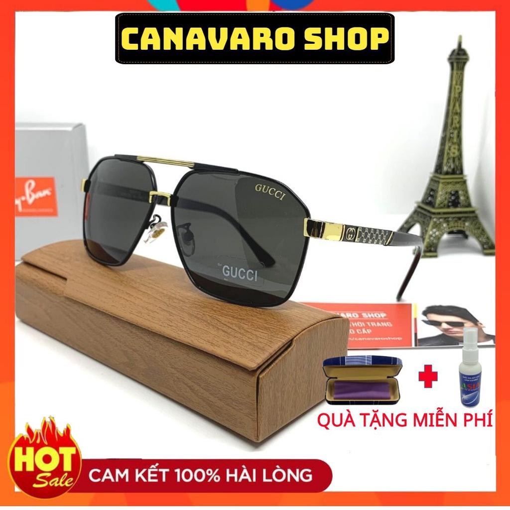 Kính râm nam thời trang mắt vuông cao cấp phân cực chống chói chống uv bảo vệ mắt bảo hành 6 tháng CANAVARO SHOP GC5023