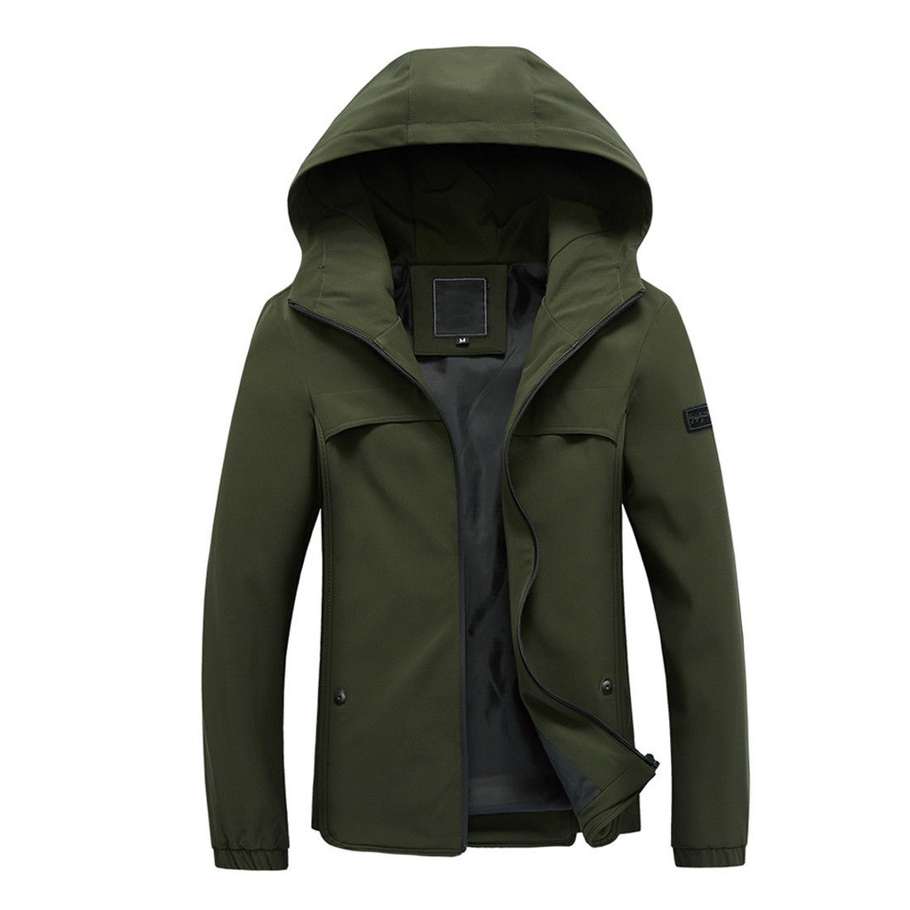 Mens Fashion Hooded Jackets Warm Coat SFGHOUSE