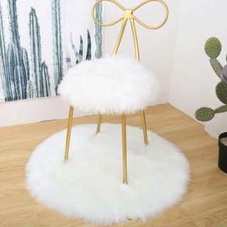 Wool Carpet Artificial Round Soft Wool Carpet Artificial Artificial Wool Beautiful