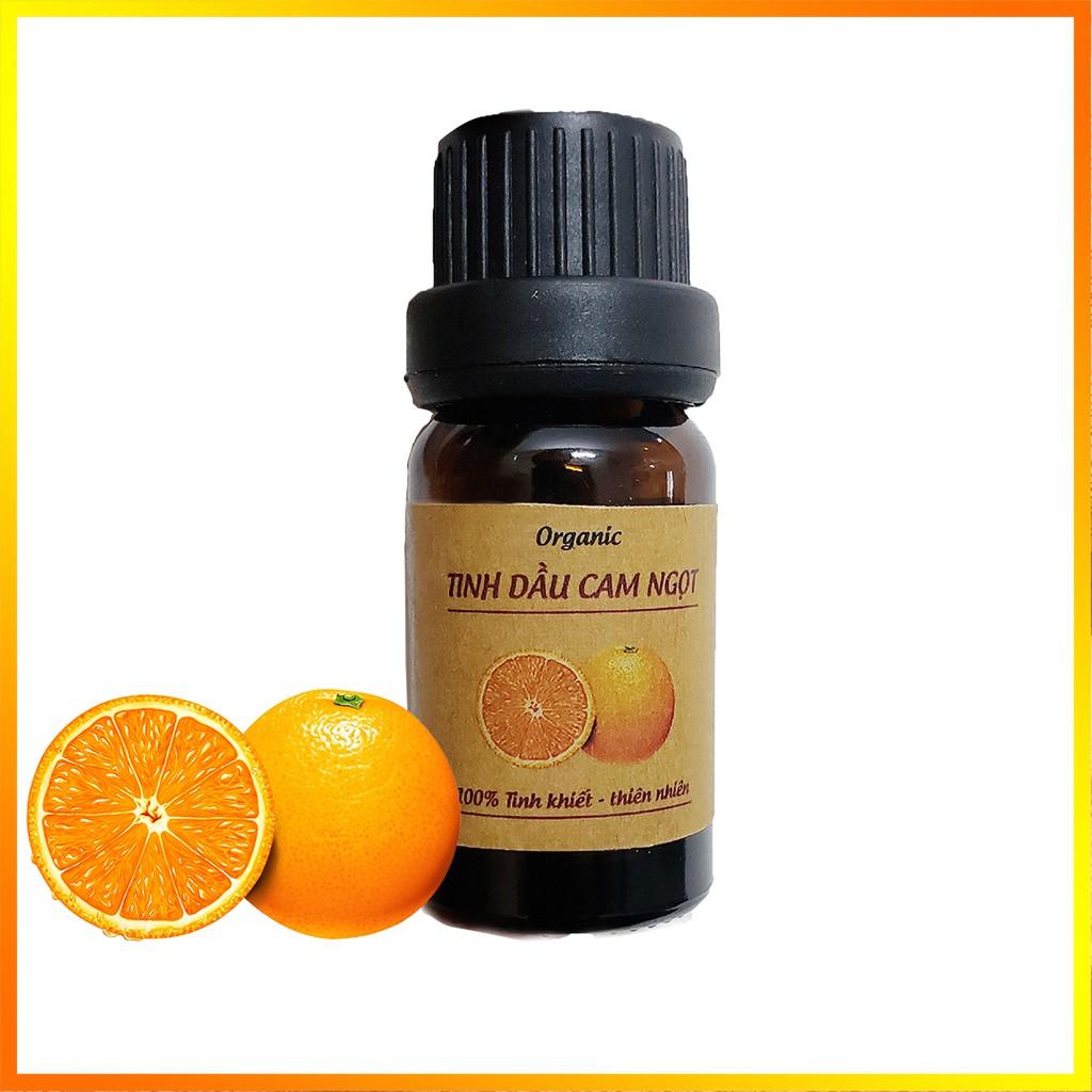Tinh dầu Cam Ngọt (Organic), Nguyên chất, 5ml,10ml, Có kiểm định