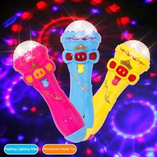 🔥Big-Sale🔥 chinatera Kids Microphone Model Lighting Toy Wireless Karaoke Flashing Projector Mike