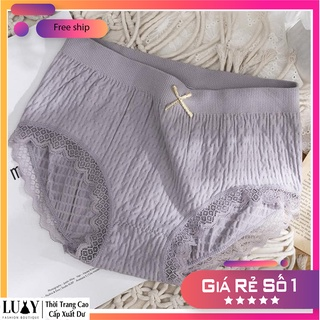 Quần lót nữ Cotton viền ren kháng khuẩn Luxy co giãn 8 chiều thumbnail