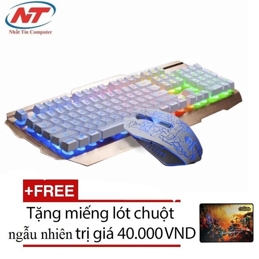 Bộ bàn phím giả cơ và chuột chuyên Game Bosston R300W Led 7 màu (Trắng Đồng) + Tặng kèm lót chuột - 2535687 , 241988624 , 322_241988624 , 331000 , Bo-ban-phim-gia-co-va-chuot-chuyen-Game-Bosston-R300W-Led-7-mau-Trang-Dong-Tang-kem-lot-chuot-322_241988624 , shopee.vn , Bộ bàn phím giả cơ và chuột chuyên Game Bosston R300W Led 7 màu (Trắng Đồng) + Tặ