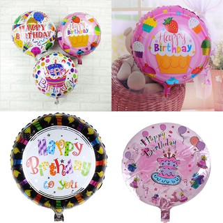 SIY❤ 2Pcs Happy Birthday Aluminum Foil Balloons Birthday Wedding Party De