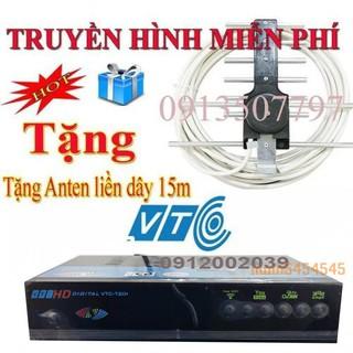 đầu thu truyền hình số mặt đất DVB T2 VTC T201 tăng anten kèm dây 15m