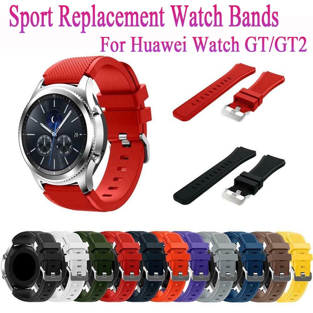 Dây Đeo Mềm Kiểu Dáng Đơn Giản Cho Đồng Hồ Thông Minh Huawei Watch Gt / Gt2