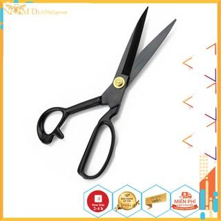 Kéo cắt vải cắt may Kéo cắt vải thép đen cao cấp sắc bén không rỉ (dùng cho thơ may thiết kế thời trang) kéo cắt da thumbnail