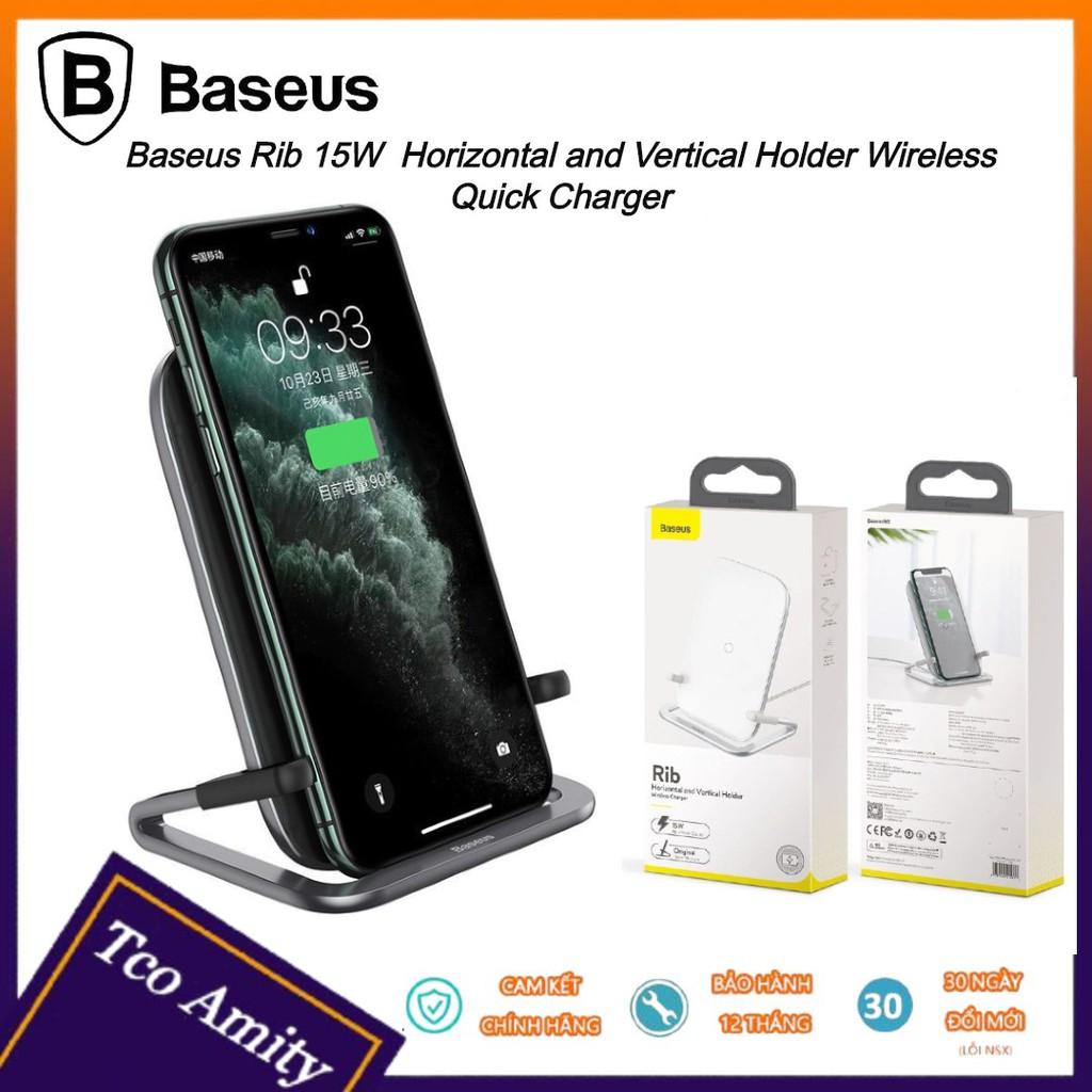 Đế sạc không dây - Bộ sạc nhanh Baseus 15W - Sạc nhanh - Siêu bền - Chính hãng - Bảo hành 12 tháng