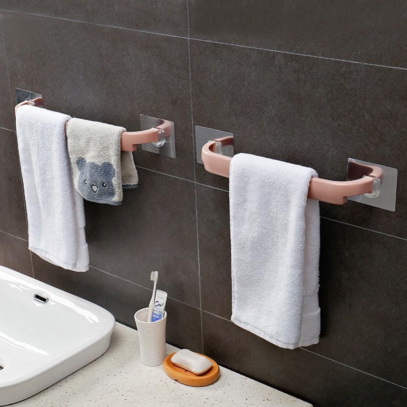 Giá đỡ khăn tự dính/giá treo khăn treo tường/giá đỡ thanh khăn phòng tắm, giá đỡ con lăn/giá treo giẻ