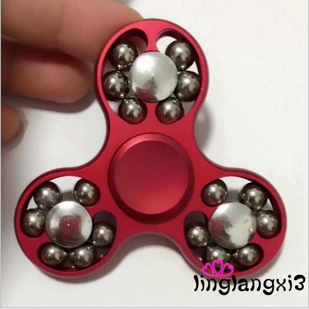 .AX-Tri-Spinner Fidget Toy Ceramic EDC Hand Finger Spinner Desk Focus ADHD