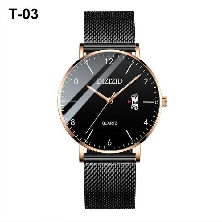Đồng hồ thời trang nam DIZIZID 8012 dây mành cao cấp