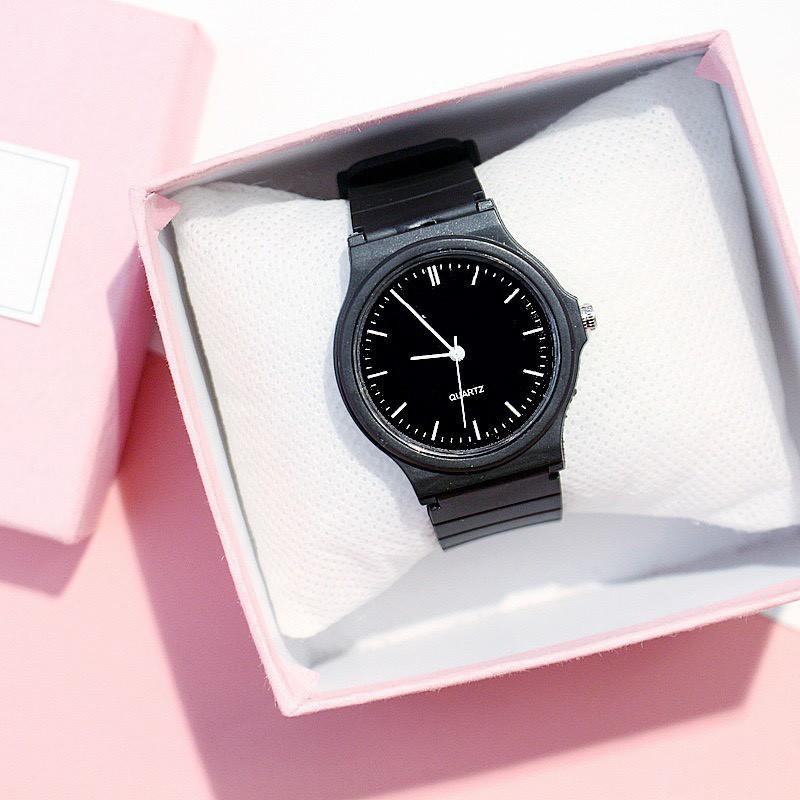 Đồng hồ JINGIT nam Bamezo thời trang trẻ trung tông trắng đen xinh xắn DH84