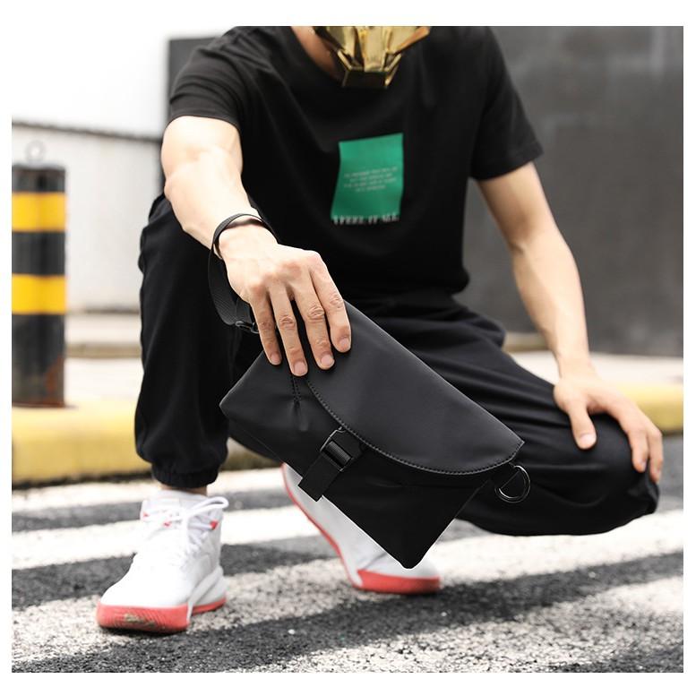 Túi Đeo Chéo Nam Thời Trang Đẹp TD01 - Chất Liệu Vải Dù Polyester Cao Cấp Chống Nước - Đeo Vai Ngực Clutch Cầm Tay