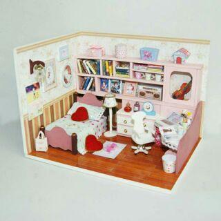 Mô hình nhà gỗ búp bê dollhouse DIY – K003 Encounter