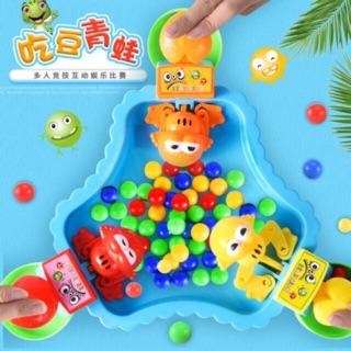 Bộ đồ chơi ếch pacman ăn bóng vui nhộn, bàn 3 ếch
