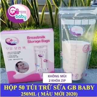 (Mẫu mới) 50 Túi trữ sữa GB Baby 250ml