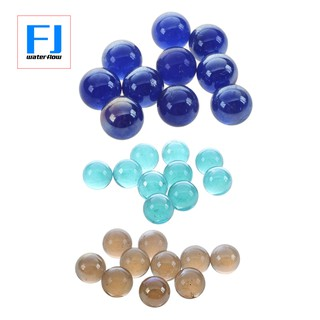 30 Pcs Marbles 16mm Glass Marbles Knicker Glass Balls Decoration Color Nuggets Toy Water Red &