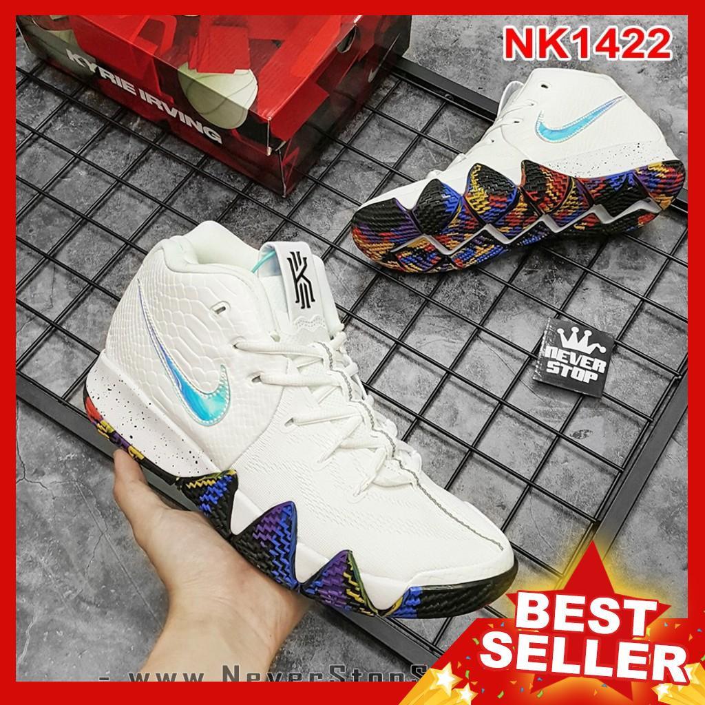 NIKE KYRIE 4 MARCH MADNESS giày bóng rổ giá tốt, chất lượng cao, outdoor bền [TẶNG VỚ]