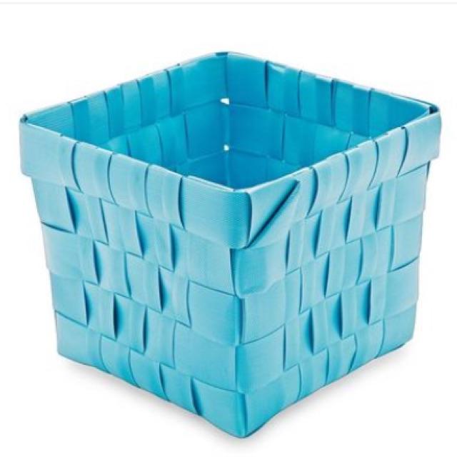 Rổ PP đan vuông Sovaco21 x 21 x 18 cm (Xanh da trời)