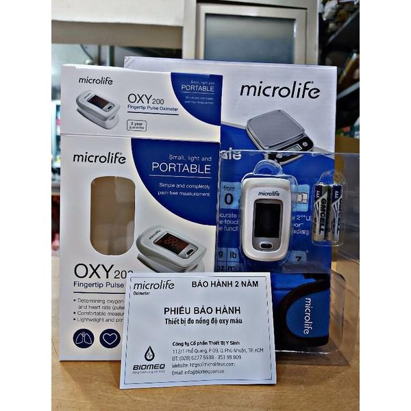 (Giao siêu tốc HCM) Máy đo nồng độ oxy trong máu, máy đo SPO2 Microlife OXY200