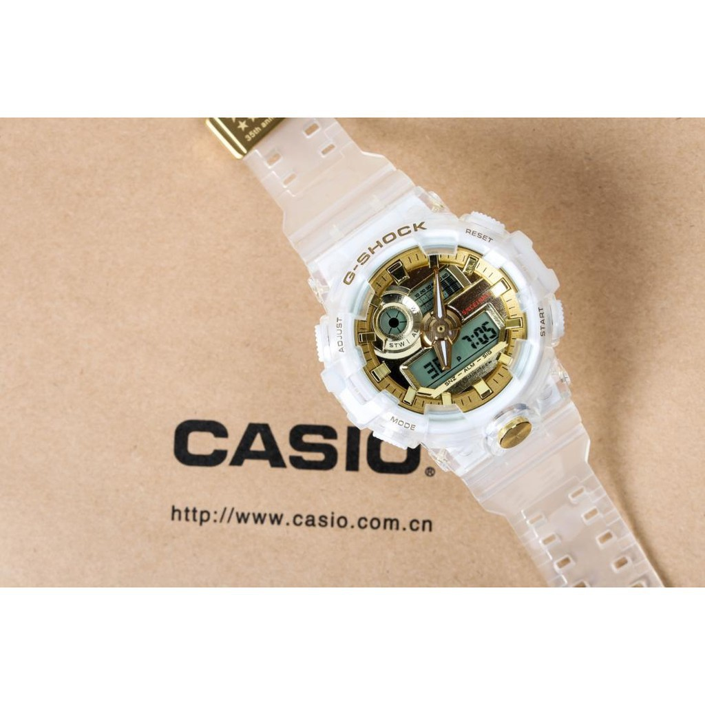 Casio โปร่งใส G-SHOCK GA-700 กีฬานาฬิกาผู้ชายอิเล็กทรอนิกส์