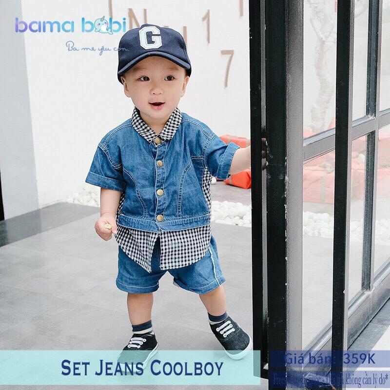 Bộ quần áo bé trai hãng Baby City Jean Coolboy - 3244347 , 1110127259 , 322_1110127259 , 359000 , Bo-quan-ao-be-trai-hang-Baby-City-Jean-Coolboy-322_1110127259 , shopee.vn , Bộ quần áo bé trai hãng Baby City Jean Coolboy