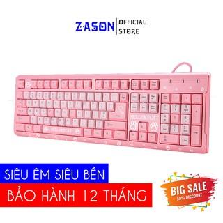 Bàn phím máy tính HELLO KITTY CAT Màu hồng   Bàn phím hồng siêu cute cho nữ Bảo Hành 12 Tháng