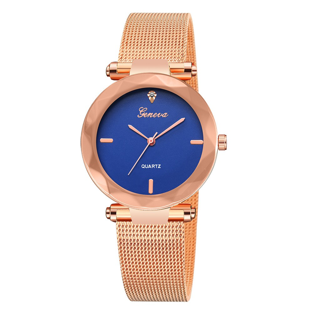 MaeLover Geneva Classic New Luxury Women Stainless Steel Analog Quartz Analog Wrist Watch