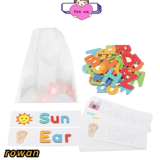 ROW Game Alphabet And Number Family Education Educational Toys Set Flash Card Preschool 3+Years Old Kids Funny Toddlers Wooden Jigsaw Puzzle