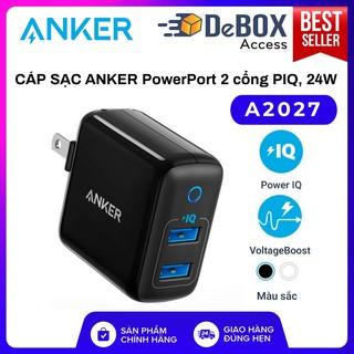 Sạc ANKER PowerPort II 2 cổng PIQ 24w - A2027 Bảo hành 18T chính hãng