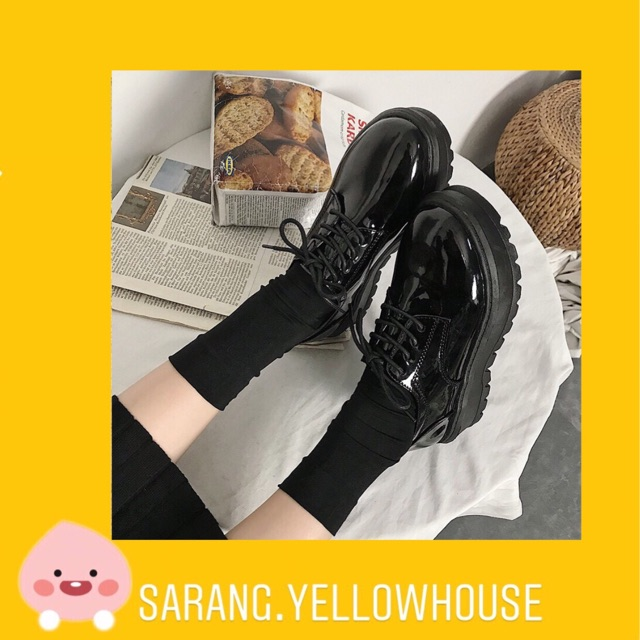 Giày ulzzang dây tròn