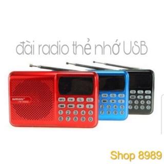 [Mã ELFLASH5 giảm 20K đơn 50K] ĐÀI Radio FM Thẻ Nhớ Usb D68 E bảo hành 6 tháng đổi mới