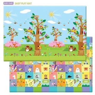 Thảm chơi silicon Baby Care STD Vườn Chim cho bé Hàn Quốc
