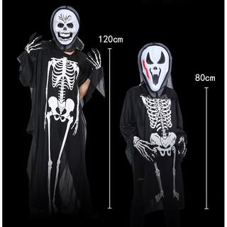 bộ hóa trang – mặt nạ áo ma hình xương halloween mã SYI33 Bđẹp (rẻ)