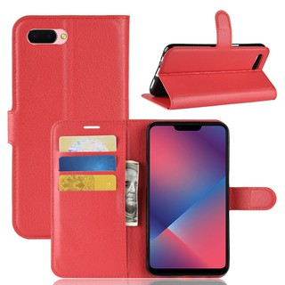 🎖OPPO F7 Leather Wallet Flip Case With Card Slot