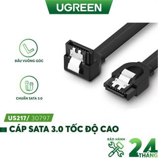 Cáp SATA 3.0 tốc độ truyền tải cao 6Gb/s dài 0.5m UGREEN US217