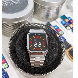 Đồng hồ nam nữ Casio AQ 230 màn hình LED cảm ứng , hiện đại , sang trọng dành cho bạn trẻ năng động-Box thiếc chính hãng